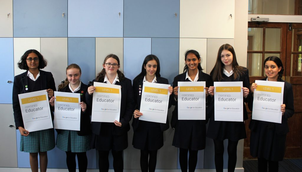 Student Google Certified Educators at Sheffield Girls'